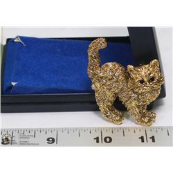 ESTATE CAT BROOCH