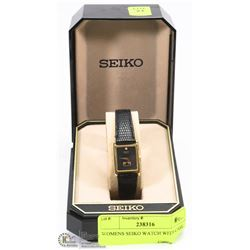 WOMENS SEIKO WATCH WITH CASE.
