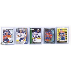 LOT OF 5 CONNOR MCDAVID ROOKIE CARDS.