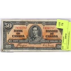 1937 CANADIAN $50 BILL.