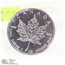 1OZ .999 SILVER MAPLE LEAF COIN