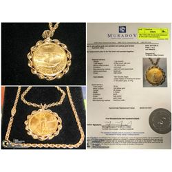 FEATURED SOLID GOLD PENDANT AND CHAIN