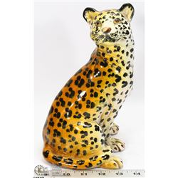 MID CENTURY LEOPARD POTTERY STAMPED &