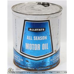 ALL STATE MOTOR OIL TIN