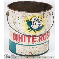 WHITE ROSE 10LB OIL TIN