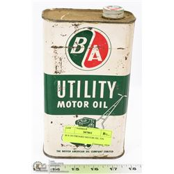 B/A OUTBOARD MOTOR OIL TIN