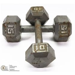 2 FREE WEIGHT DUMBELLS