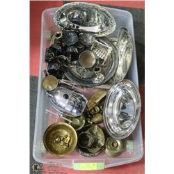 LARGE LOT OF SILVER PLATED, COPPER & BRASS ITEMS