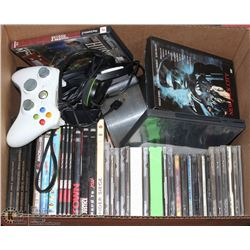 BOX OF ASSORTED DVD'S, CD'S & GAMING ACCESSORIES