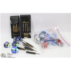 4 SETS OF  DARTS (2 CASES) - RAPIER &