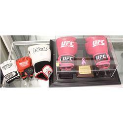 AUTOGRAPHED UFC CHAMPIONSHIP GLOVES & MORE