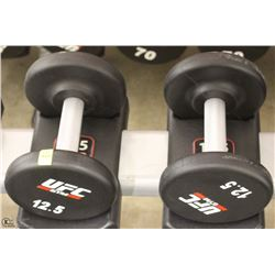 PAIR OF UFC 12.5 LB DUMBBELLS