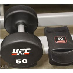 SINGLE UFC 50 LB DUMBBELL