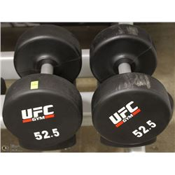 PAIR OF UFC 52.5 LB DUMBBELLS