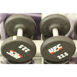 PAIR OF UFC 22.5 LB DUMBBELLS