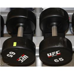 PAIR OF UFC 65 LB DUMBBELLS
