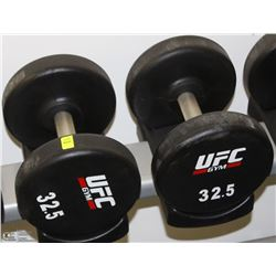 PAIR OF UFC 32.5 LB DUMBBELLS