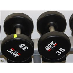PAIR OF UFC 35 LB DUMBBELLS