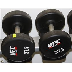 PAIR OF UFC 37.5 LB DUMBBELLS