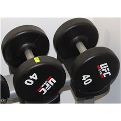 PAIR OF UFC 40 LB DUMBBELLS