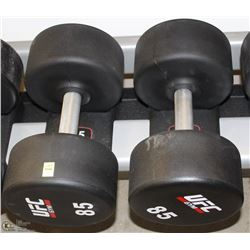 PAIR OF UFC 85 LB DUMBBELLS