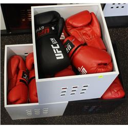3 BINS OF USED YOUTH BOXING GLOVES