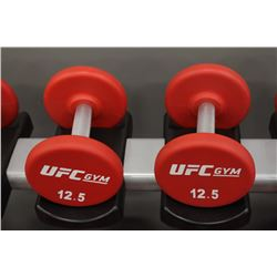 PAIR OF 12.5LB UFC DUMBBELLS