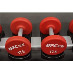 PAIR OF 17.5LB UFC DUMBBELLS