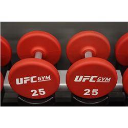 PAIR OF 25LB UFC DUMBBELLS