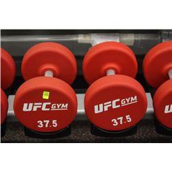 PAIR OF 37.5LB UFC DUMBBELLS