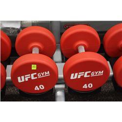 PAIR OF 40LB UFC DUMBBELLS
