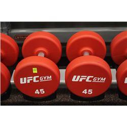PAIR OF 45LB UFC DUMBBELLS
