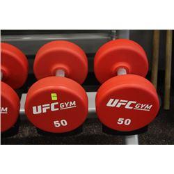 PAIR OF 50LB UFC DUMBBELLS