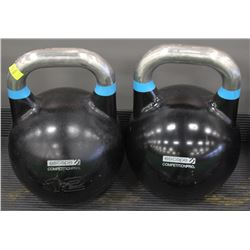 PAIR OF 12KG ESCAPE COMPETITION PRO KETTLEBELLS