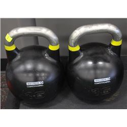 PAIR OF 16KG ESCAPE COMPETITION PRO KETTLEBELLS