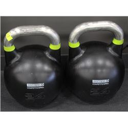 PAIR OF 24KG ESCAPE COMPETITION PRO KETTLEBELLS