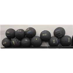LOT OF 11 ASSORTED MEDICINE BALLS