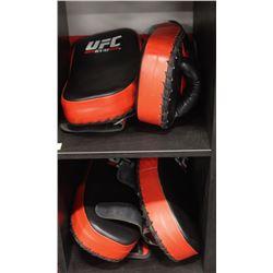 LOT OF 4 RED UFC TRAINING KICK PADS