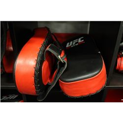 LOT OF 2 RED UFC TRAINING KICK PADS