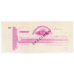National Bank of Australasia, Ltd, 1900-1910 Specimen 1st of Exchange.