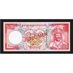 Royal Monetary Authority of Bhutan, ND (2000), High Denomination Specimen Banknote