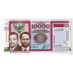 Banque De La Republique Du Burundi, 2004 Issued Replacement Banknote.