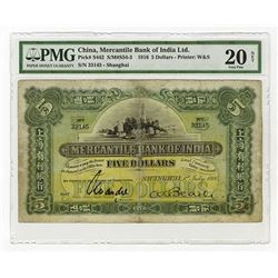 Mercantile Bank of India, Ltd., 1916 Issued Banknote.