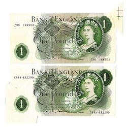 Bank of England, ND, Pair of Error Notes