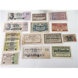 German Banknote Assortment & Accumulation.