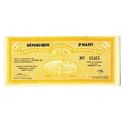 Republique d'Haiti, 1962, Two Digit Radar Note