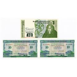 Ireland, Lot of 3 Replacement Notes, ca. 1977 and 2007.