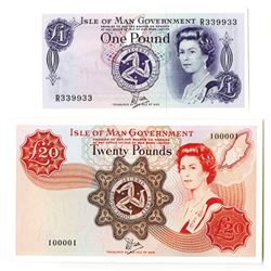 Isle of Man Government, Pair of Two Digit Radar Notes