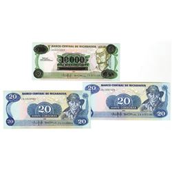 Banco Central de Nicaragua, 1979-1985, Trio of Replacement Notes