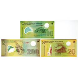 Banco Central de Nicaragua, 2007, Trio of Replacement Notes